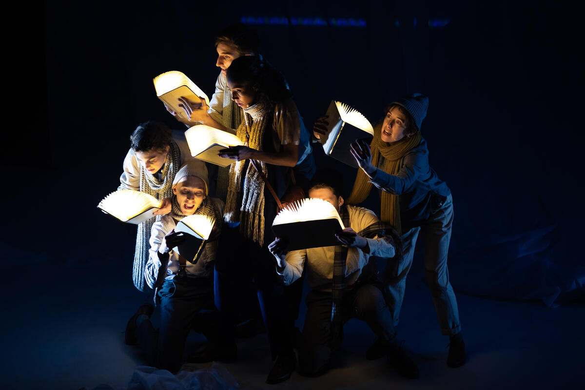 Photograph from The Snow Queen - lighting design by Katrin Padel