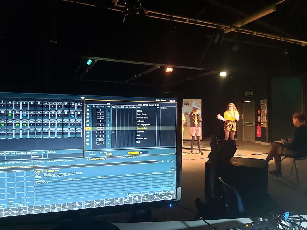 Photograph from The Changing Room - lighting design by JamieJM