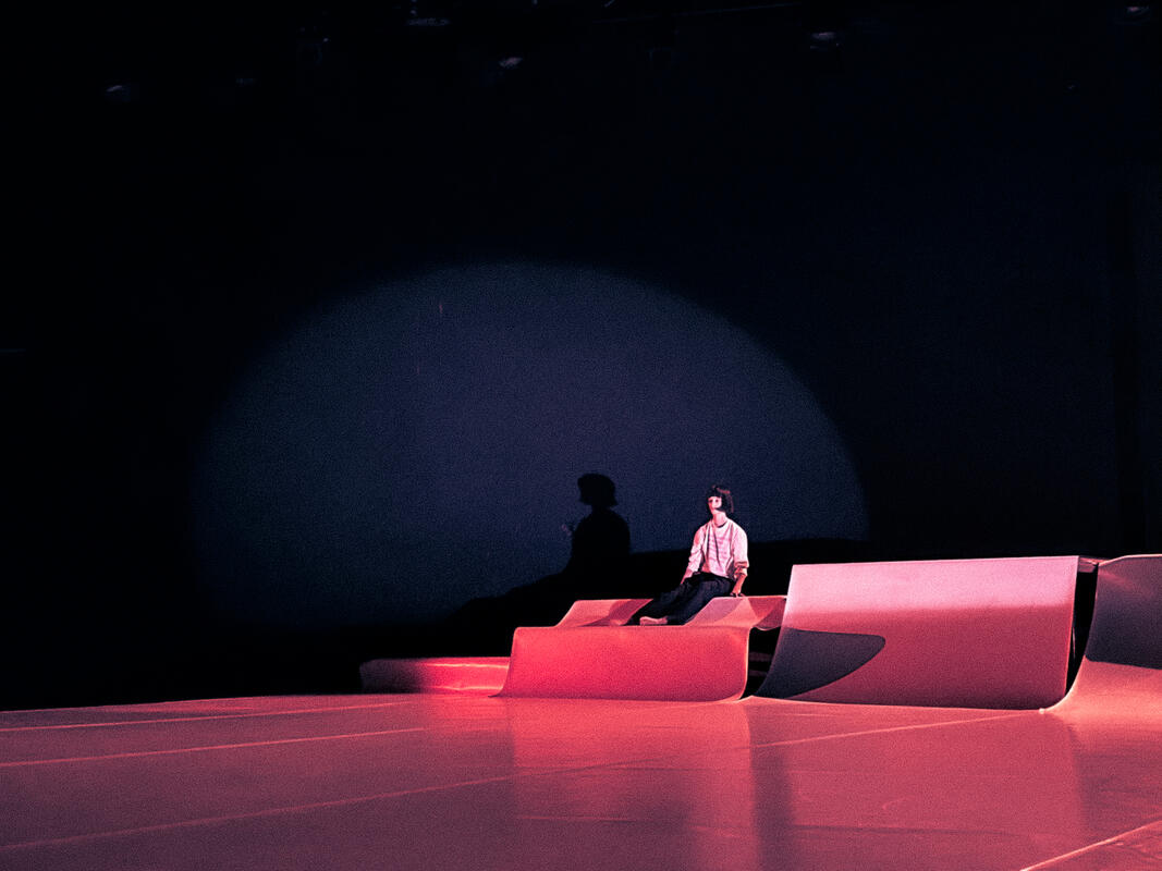 Photograph from DN2 - lighting design by Edward Saunders