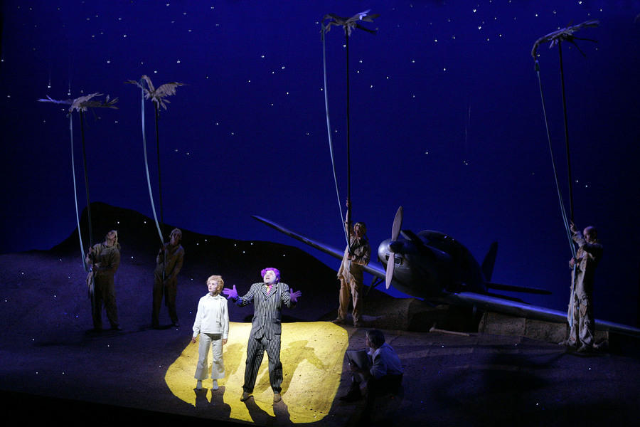 Photograph from The Little Prince - lighting design by Malcolm Rippeth