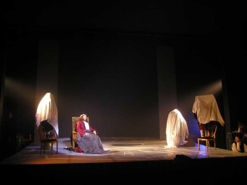 Photograph from Moliere - lighting design by Steve Lowe