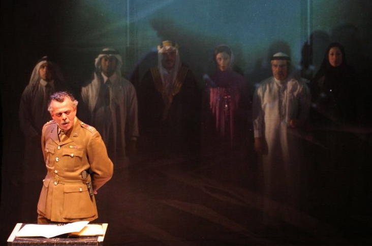 Photograph from Richard III - An Arab Tragedy - lighting design by Richard Williamson