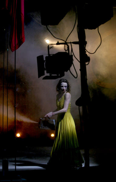 Photograph from Nights at the Circus - lighting design by Malcolm Rippeth