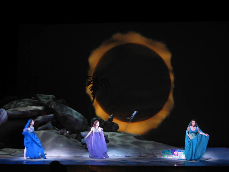 Photograph from Ariadne Auf Naxos - lighting design by Mark Jonathan
