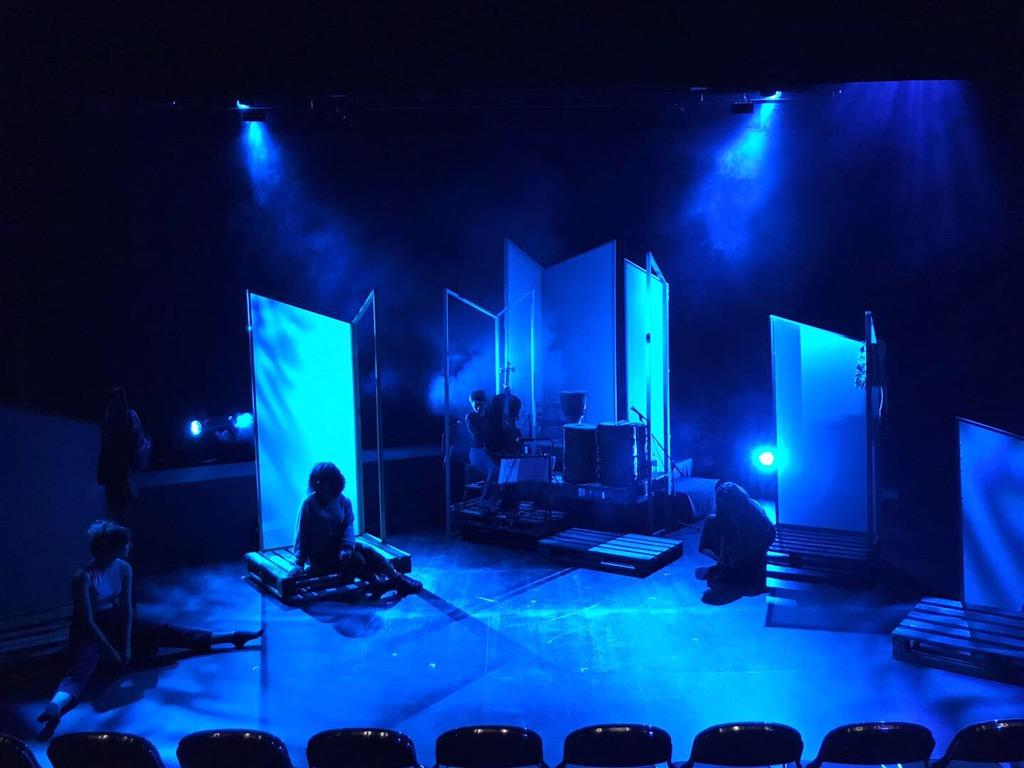 Photograph from Words as Bullets - lighting design by Ross_Hayward