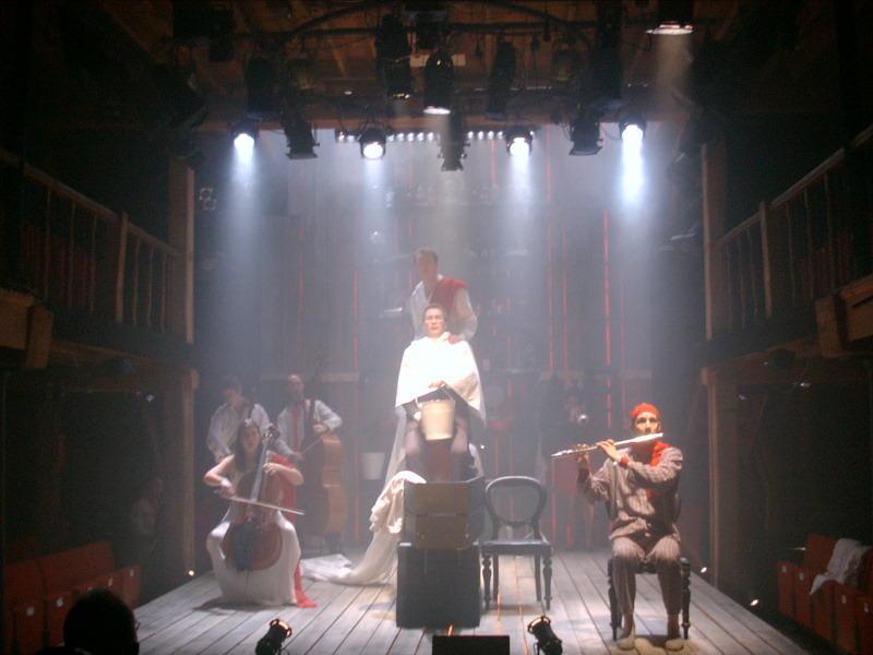 Photograph from Sweeney Todd - lighting design by Richard Jones