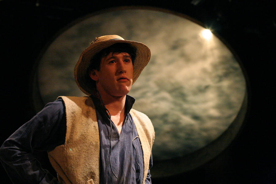 Photograph from Barbarians - lighting design by Charlie Lucas