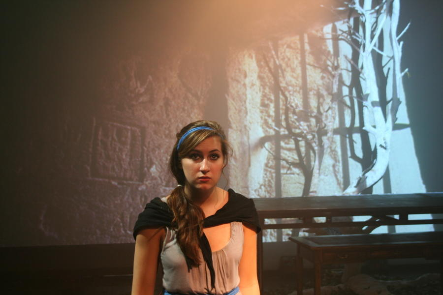 Photograph from Frankenstein - lighting design by Christopher Withers