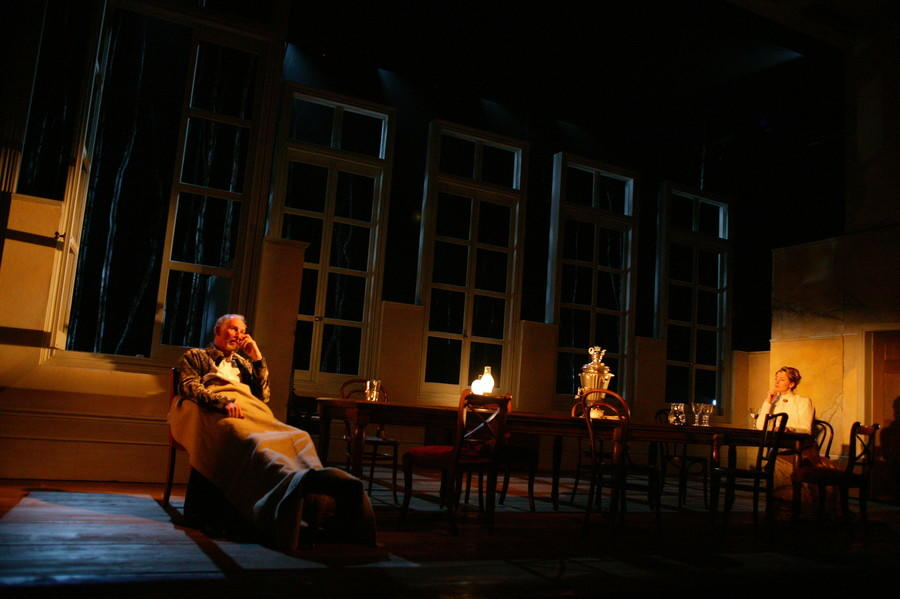 Photograph from Uncle Vanya - lighting design by Mark Jonathan