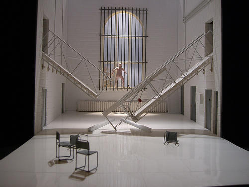Photograph from Collaborators - Design for Performance Exhibition - lighting design by Katharine Williams