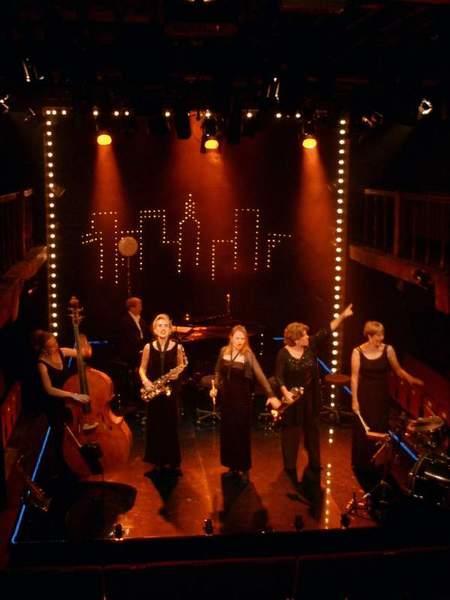 Photograph from Ten Cents a Dance - lighting design by Richard Jones