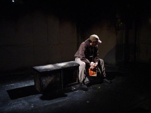 Photograph from Achidi J's Final Hours - lighting design by Alex Wardle