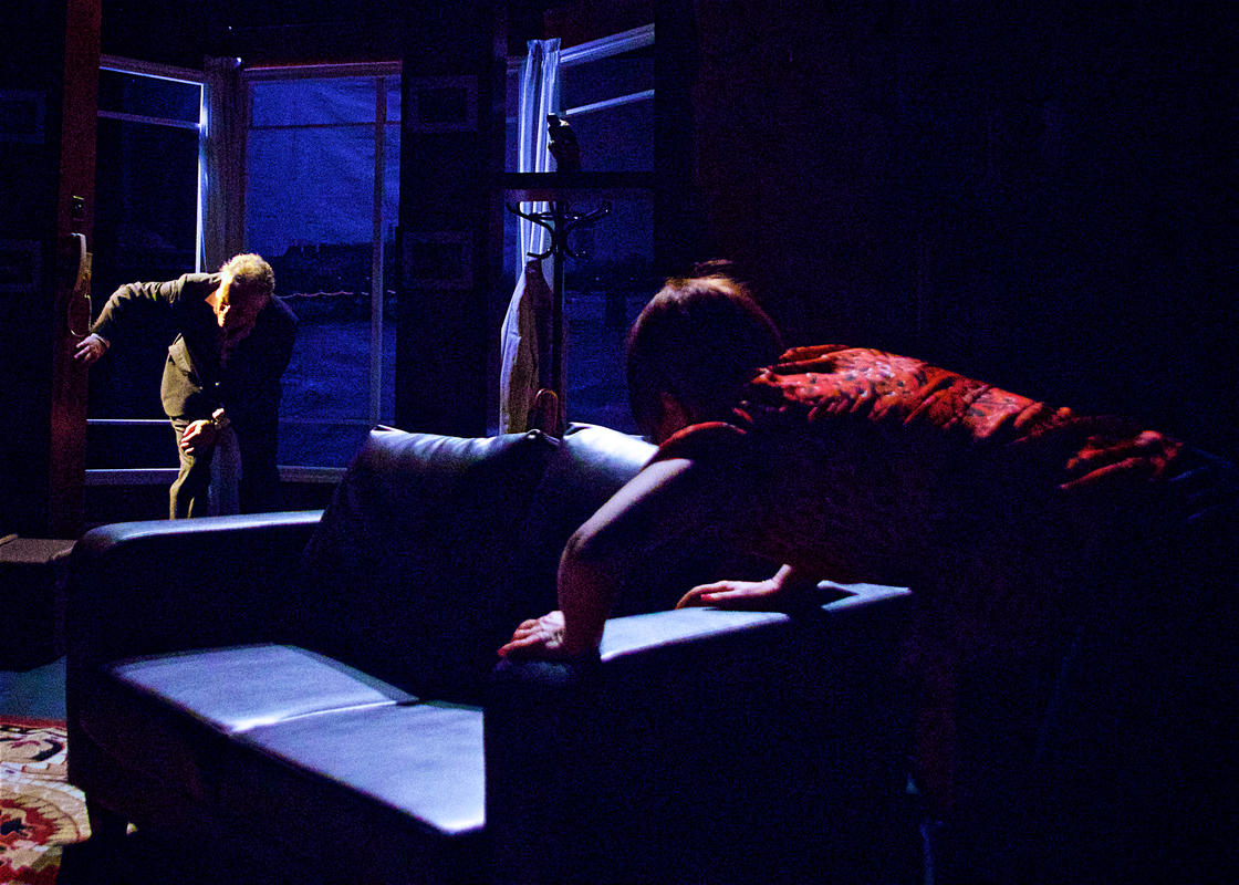 Photograph from Revenge - lighting design by Claire Childs