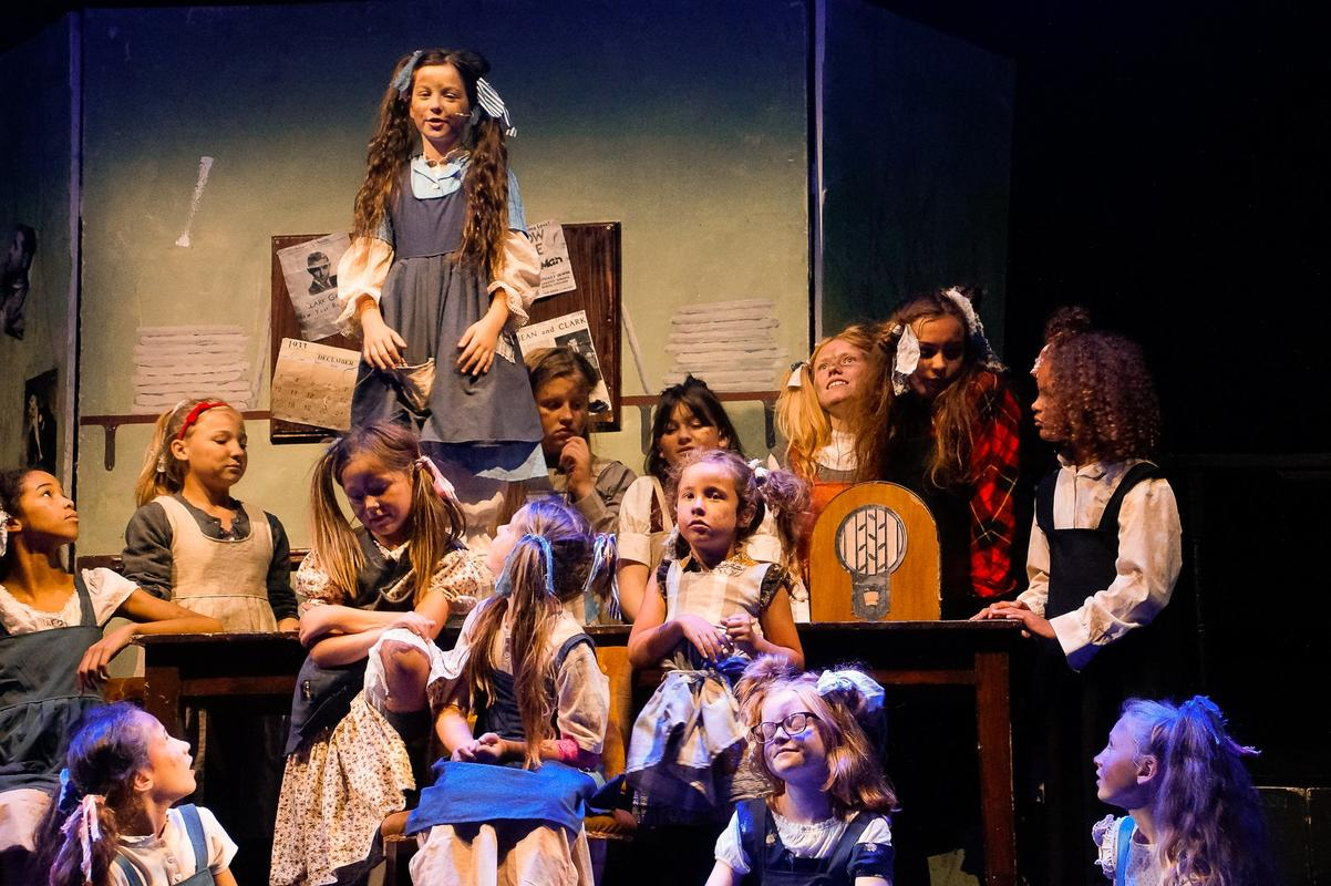 Photograph from Annie The Musical - lighting design by jackfenton