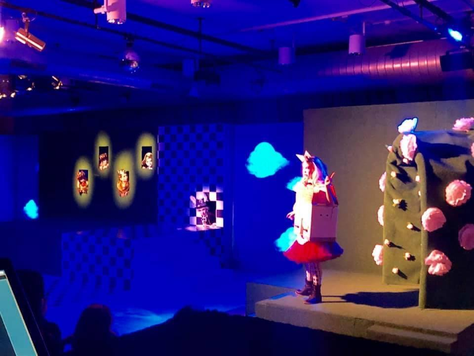 Photograph from Alice in Wonderland Jr Musical - lighting design by Corey Cascio