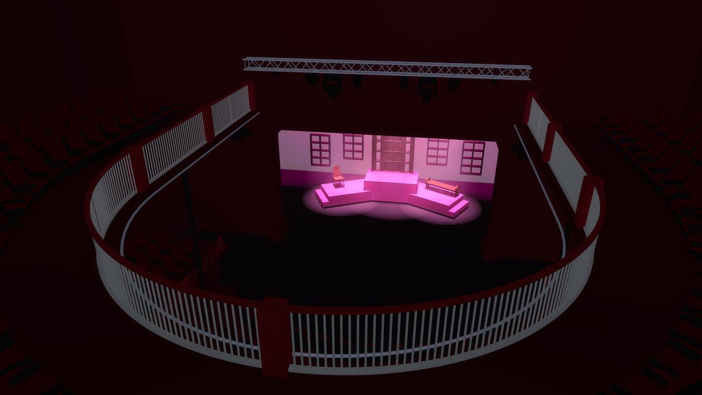 Photograph from Legally Blonde - lighting design by liamaston2699