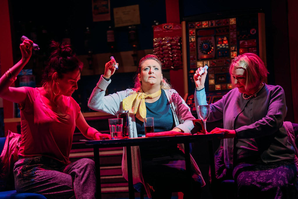 Photograph from Bingo! - lighting design by Kate Bonney