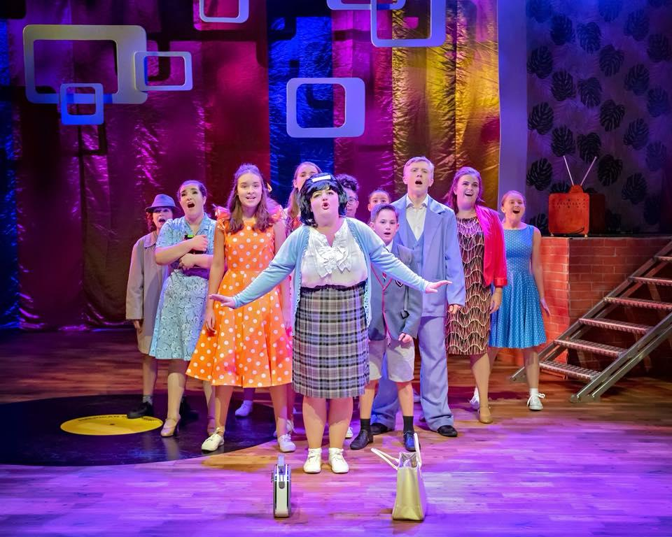 Photograph from Hairspray the Musical - lighting design by Jason Salvin
