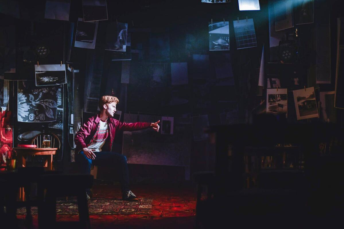 Photograph from Cardiff Boy - lighting design by Ryan Stafford