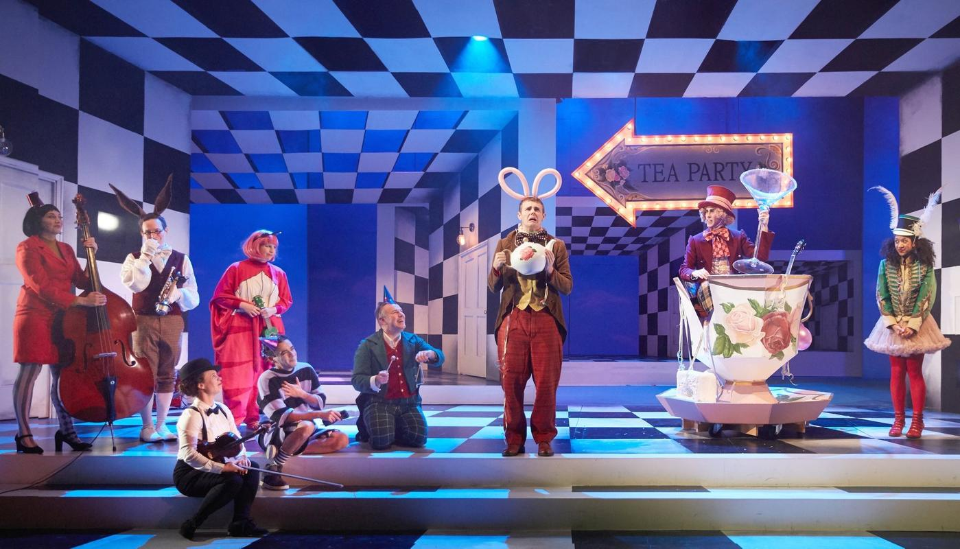 Photograph from Alice in Wonderland - lighting design by Katy Morison