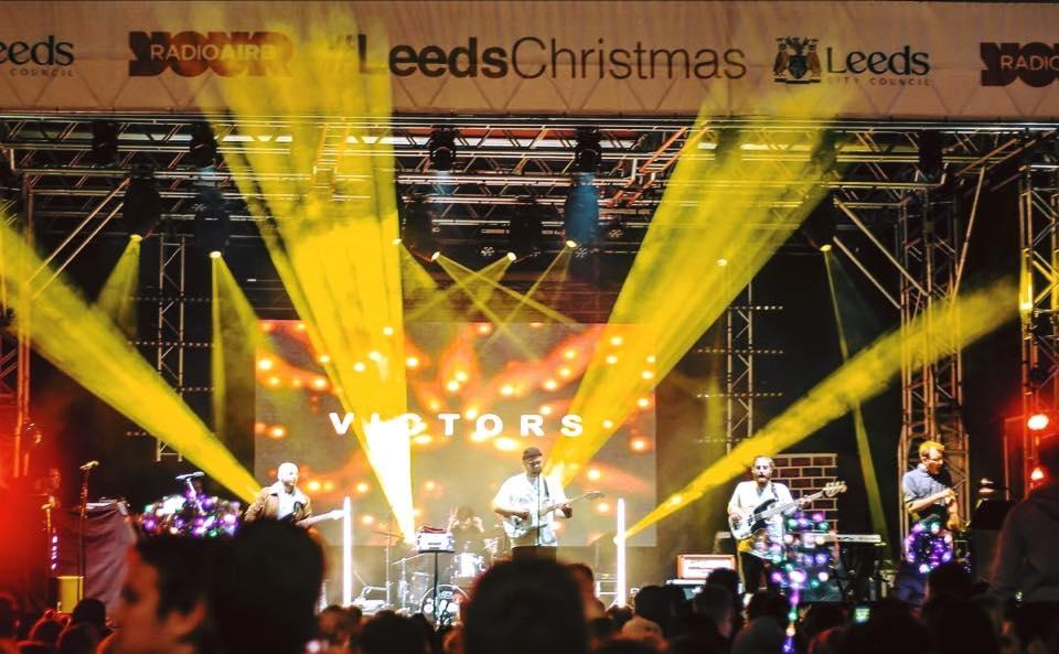Photograph from Leeds Christmas Lights Switch On 2018 - lighting design by Jason Salvin