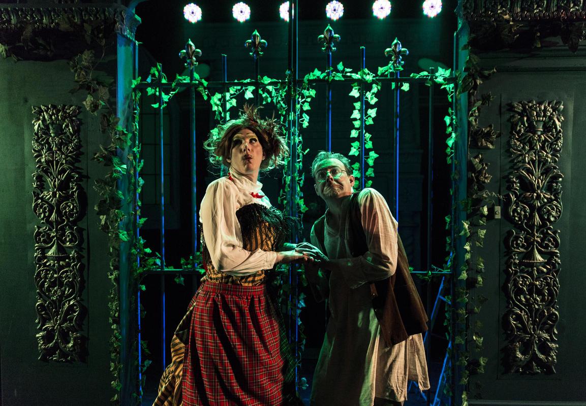 Photograph from Beauty on the Piste - lighting design by Jamie Platt