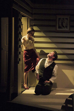 Photograph from Metamorphosis - lighting design by Peter Vincent