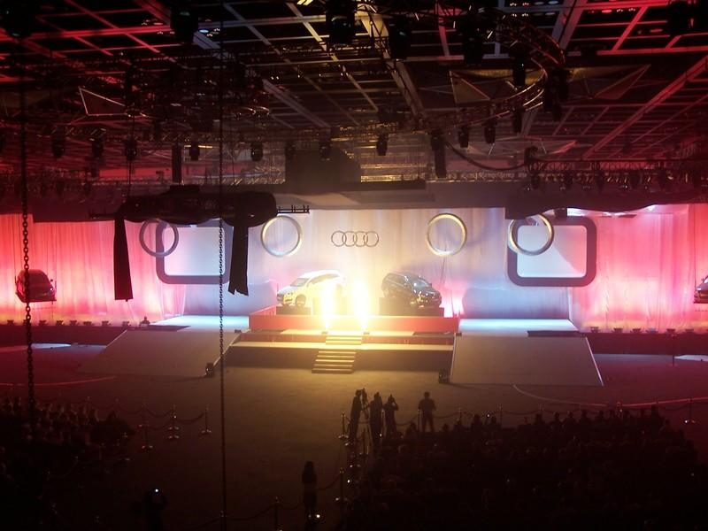 Photograph from Audi Q7 - Middle East Launch - lighting design by Paul Smith