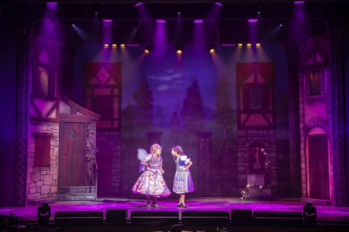 Photograph from Beauty & The Beast - lighting design by Andy Webb
