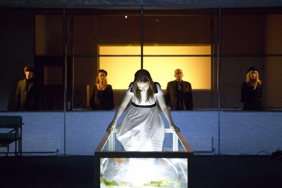 Photograph from Six Characters in Search of an Author - lighting design by Malcolm Rippeth