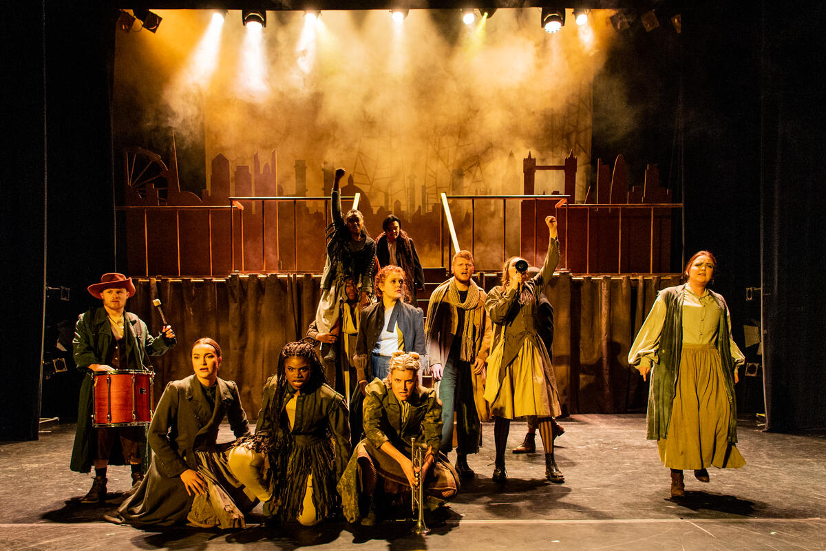 Photograph from Victoria's Knickers - lighting design by edd knight