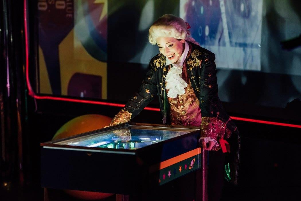 Photograph from Mozart vs Machine - lighting design by Claire Childs
