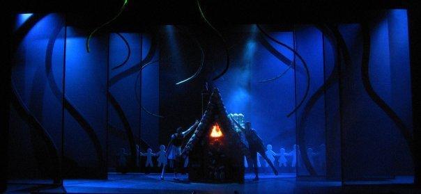Photograph from Hansel Und Gretel - lighting design by Jake Wiltshire