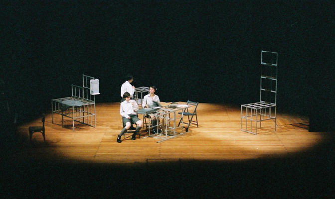 Photograph from Au revoir les enfants - German tour - lighting design by Edmund Sutton