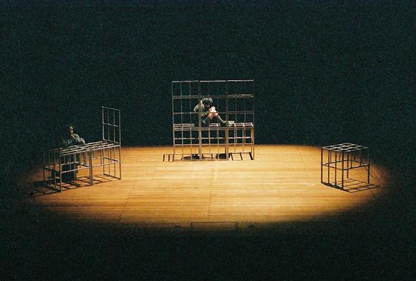 Photograph from Au revoir les enfants - German tour - lighting design by Edmund Sutton