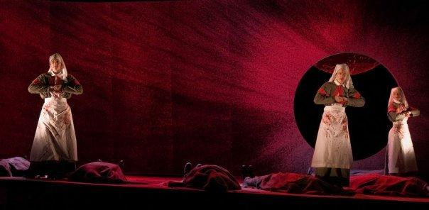 Photograph from Macbeth - lighting design by Jake Wiltshire