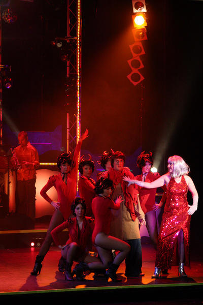 Photograph from Disco Inferno - lighting design by Pete Watts