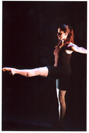 Photograph from Blurring the Line - lighting design by Richard Williamson