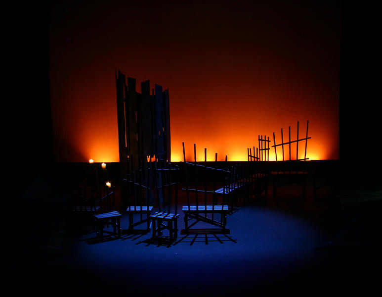Photograph from Fiddler on the Roof - lighting design by Ian Saunders
