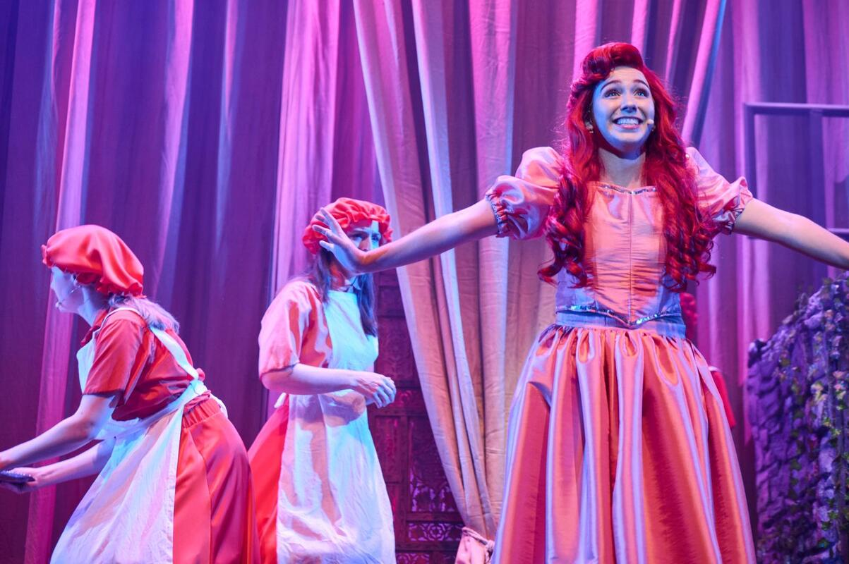 Photograph from The Little Mermaid - lighting design by Chris May