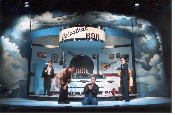 Photograph from Three Steps To Heaven - lighting design by Ian Saunders