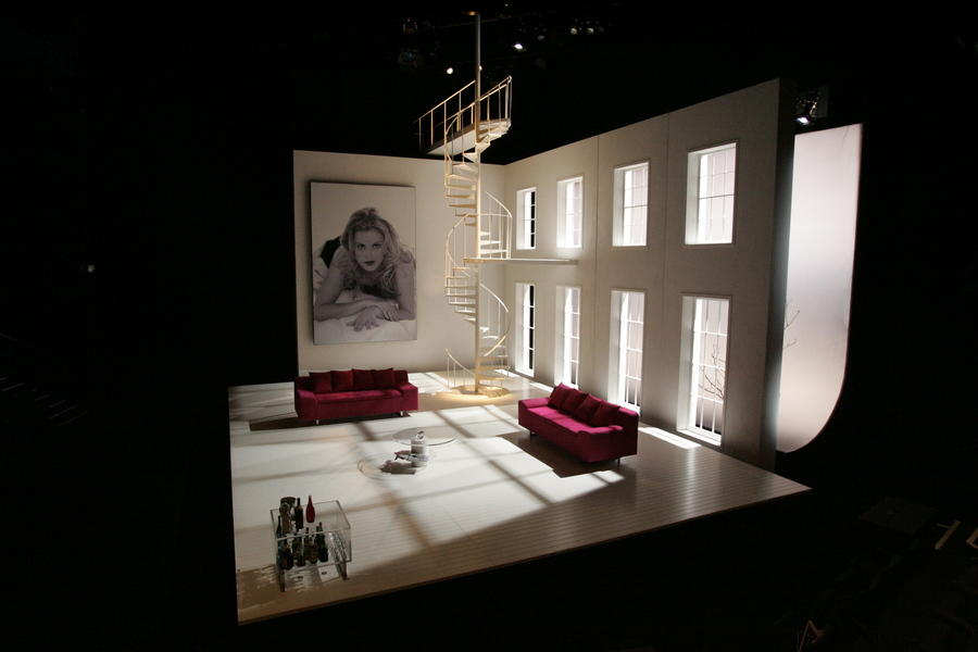 Photograph from The Grouch - lighting design by Malcolm Rippeth