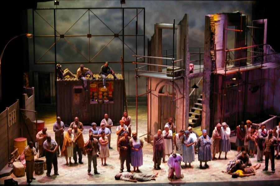 Photograph from Porgy and Bess - lighting design by Declan Randall