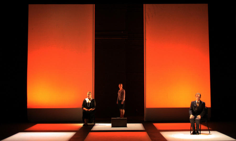 Photograph from Family Secrets - lighting design by Jake Wiltshire