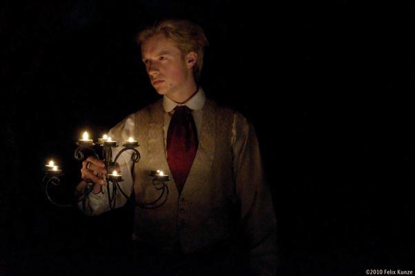 Photograph from Dorian Gray - lighting design by Edmund Sutton