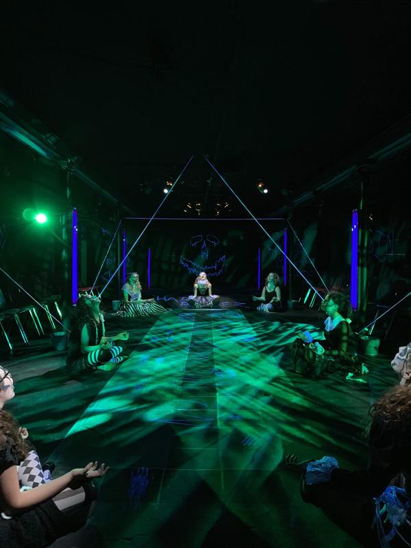 Photograph from Eurydice - lighting design by Paul Lennox