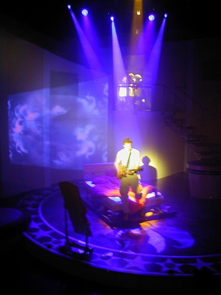Photograph from The Fix - lighting design by Rob Halliday