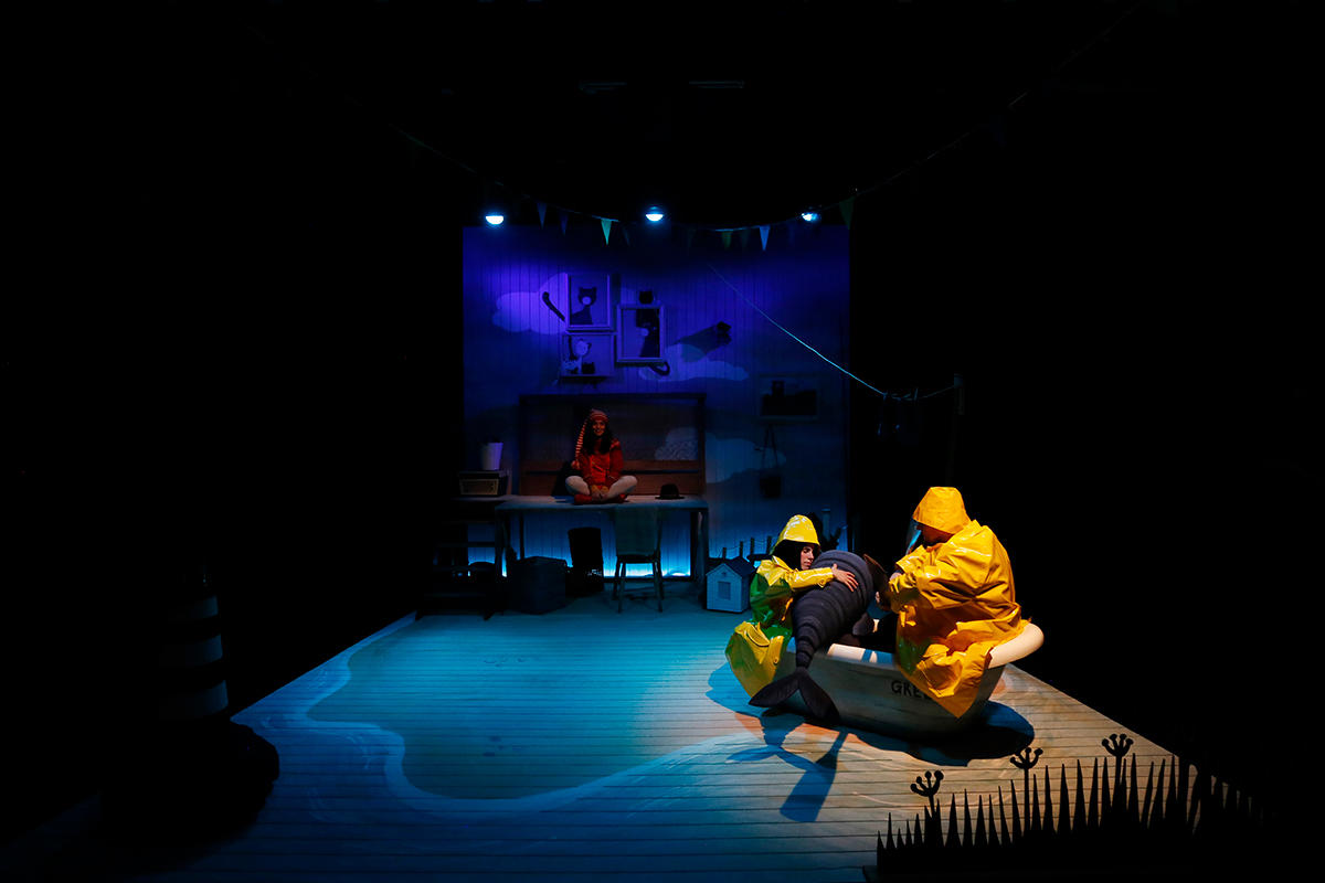 Photograph from Storm Whale - lighting design by Jason Salvin