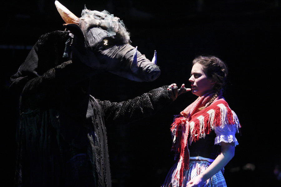 Photograph from Beauty and the Beast - lighting design by Ian Saunders