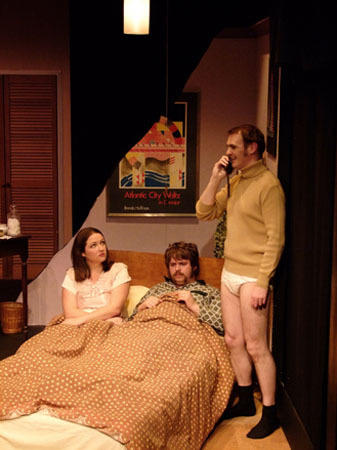 Photograph from Bedroom Farce - lighting design by Peter Vincent